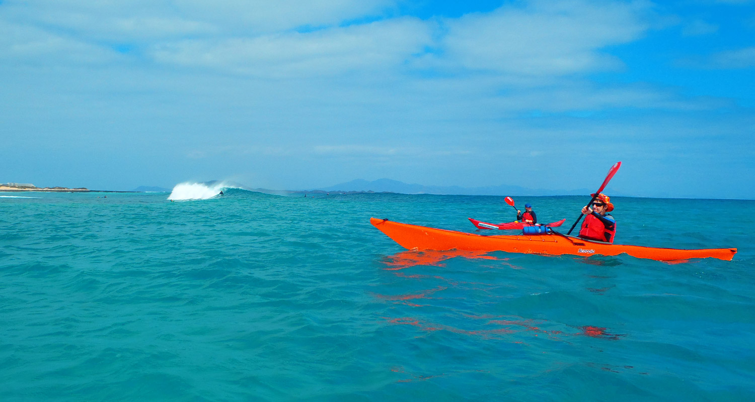 Sea kayaking expeditions Fuerteventura