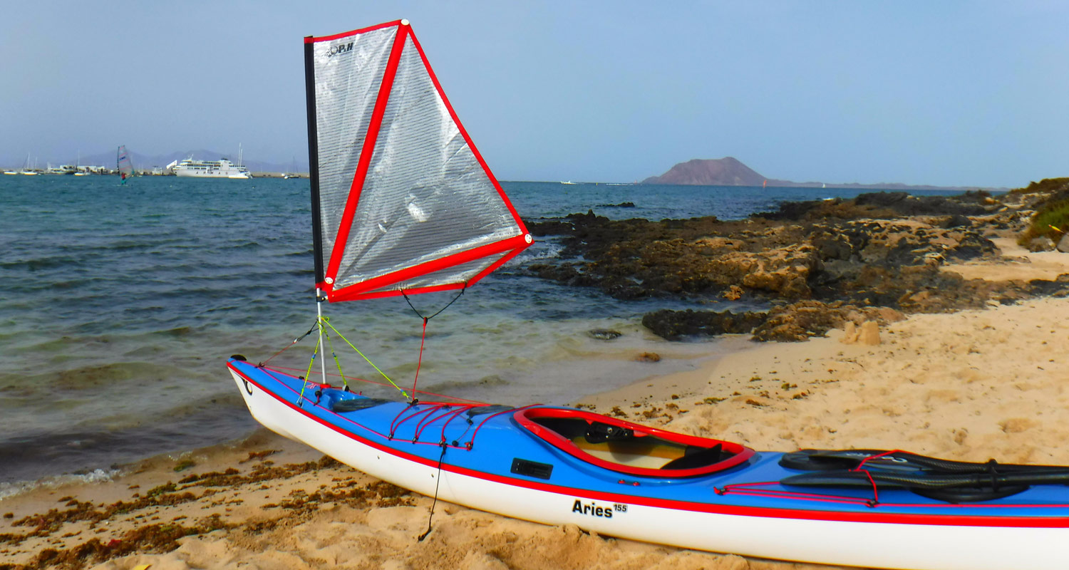 Sea kayak sailing Europe