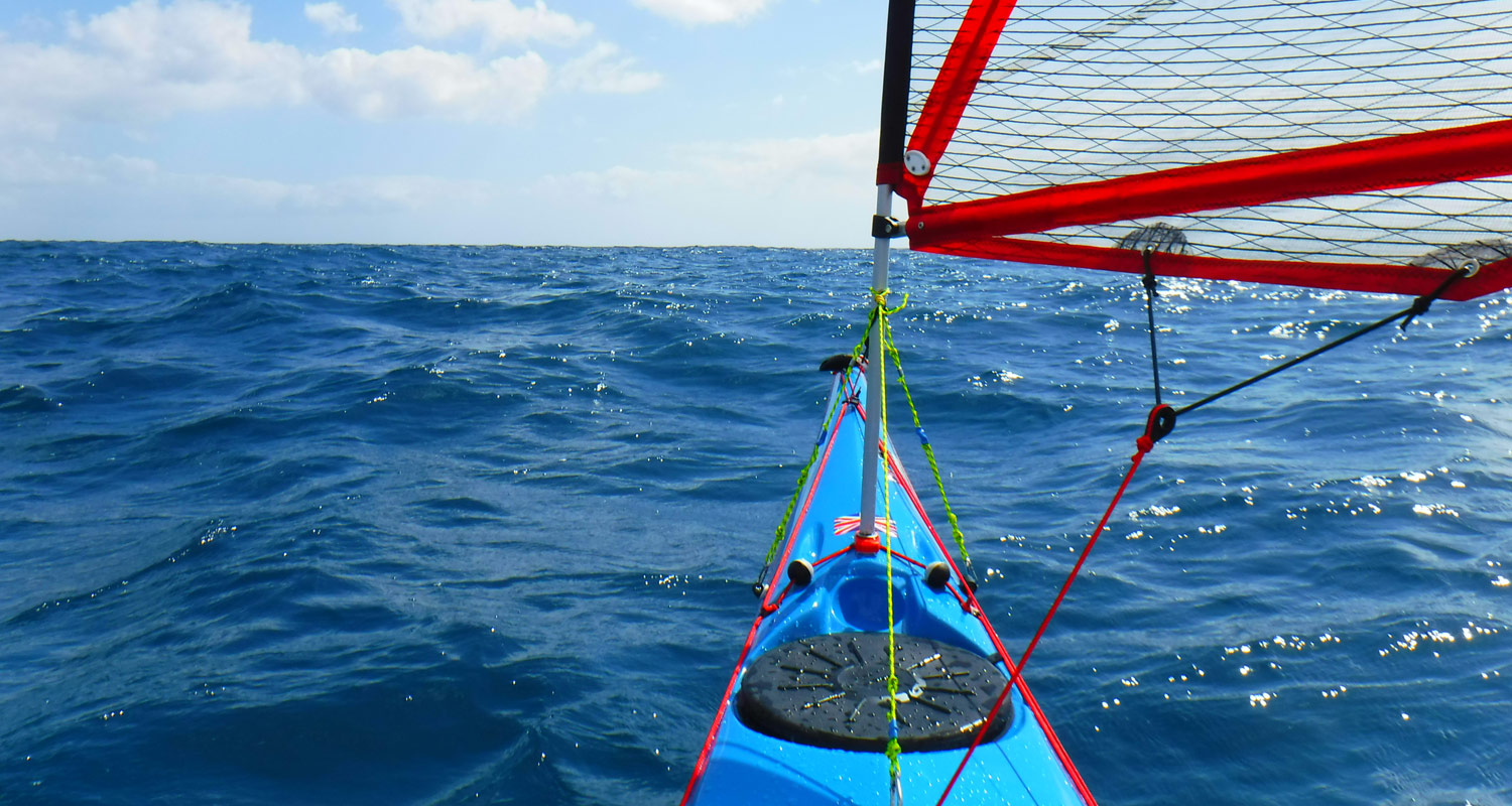 Sea kayak sailing Canary Islands